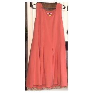 Worn once & dry cleaned. Coral daytime dress.